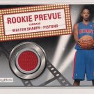 2008-09 SKYBOX WALTER SHARPE PISTONS ROOKIE PREVUE JERSEY CARD
