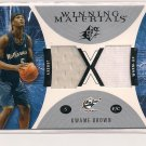 2003-04 UPPER DECK SPX KWAME BROWN WIZARDSWINNING MATERIAL DUAL JERSEY WAM-UP CARD
