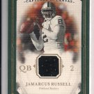 2008 UPPER DECK MASTERPIECES JAMARCUS RUSSELL RAIDERS CAPTURED ON CANVAS JERSEY CARD