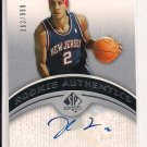 2006-07 UPPER DECK SP JOSH BOONE NETS ROOKIE AUTHENTICS AUTOGRAPHED CARD