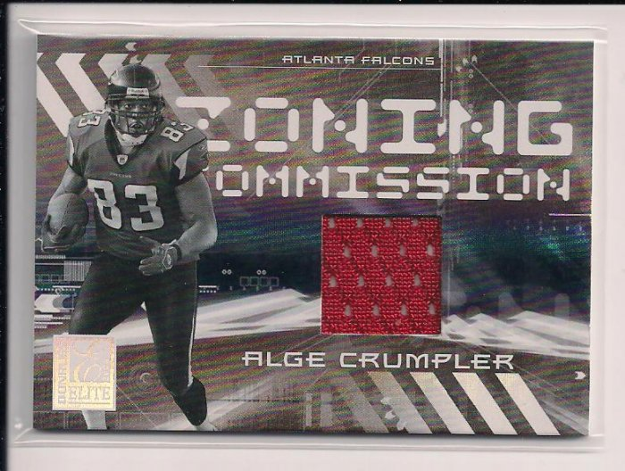 2006 DONRUSS ELITE ALGE CRUMPLER FALCONS ZONING COMMISSION JERSEY CARD #'D 250/399!