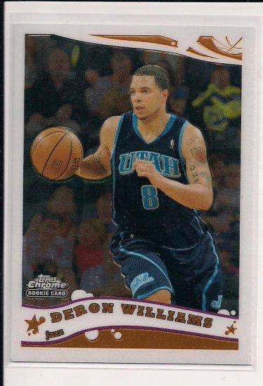 2005-06 TOPPS CHROME DERON WILLIAMS JAZZ ROOKIE CARD