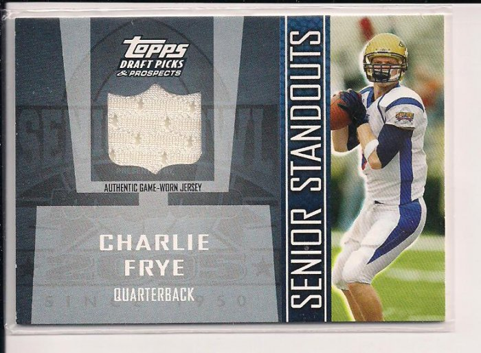 2005 TOPPS DDP CHARLIE FRYE SENIOR STANDOUTS JERSEY CARD