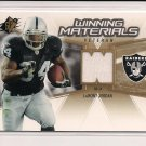 2006 SPX LAMONT JORDAN RAIDERS WINNING MATERIALS JERSEY CARD