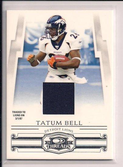 2007 DONRUSS THREADS TATUM BELL JERSEY CARD #'D 237/250!