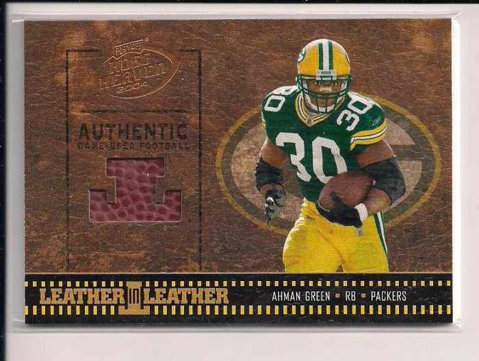 2004 DONRUSS HOGG HEAVEN AHMAN GREEN PACKERS PIECE OF FOOTBALL CARD #'D115/250!
