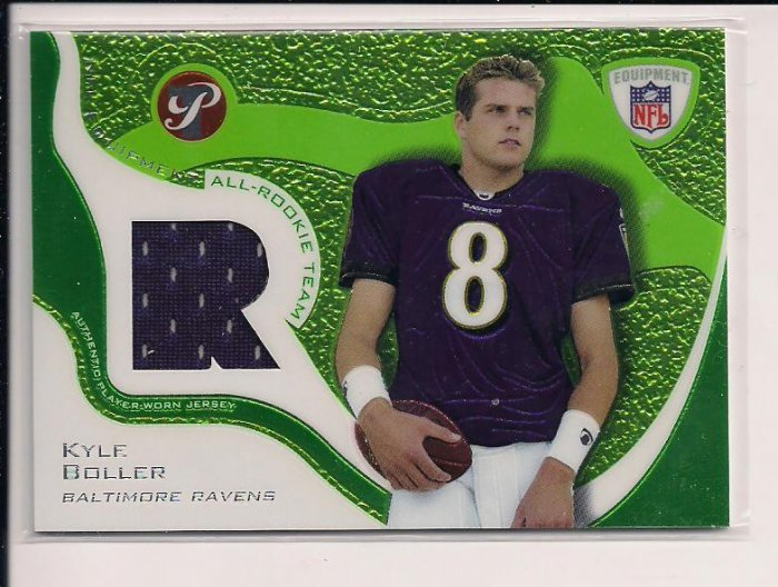 2003 TOPPS PRISTINE KYLE BOLLER RAVENS ALL-ROOKIE TEAM JERSEY CARD