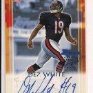 2000 BOWMAN DEZ WHITE BEARS ROOKIE AUTO CARD