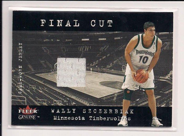 2001-02 GLEER GENUINE WALLY SZCZERBIAK TIMBERWOLVES FINAL CUT JERSEY CARD