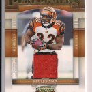 2007 DONRUSS GRIDIRON GEAR RUDI JOHNSON BENGALS PERFORMERS JERSEY CARD #'D 006/250!