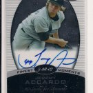 2008 TOPPS FINEST JEREMY ACCARDO CERTIFIED AUTOGRAPH CARD
