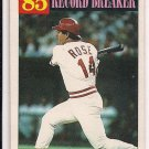 1986 TOPPS PETE ROSE REDS RECORD BREAKER CARD