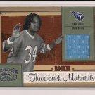 2005 DONRUSS THREADS ADAM PACMAN JONES THROWBACK MATERIALS ROOKIE JERSEY CARD