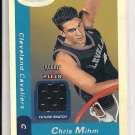 2000-01 FLEER HOOPS CHRIS MIHM CAVS ROOKIE JERSEY CARD