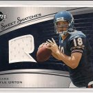 2005 UPPER DECK KYLE ORTON SWEET SWATCHES JERSEY CARD