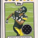 2008 TOPPS LIMAS SWEED STEELERS ROOKIE JERSEY CARD