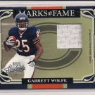 2007 PLAYOFF ABSOLUTE GARRETT WOLFE BEARS MARKS OF FAME JERSEY CARD #'D 004/200!