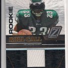 2005 DONRUSS ZENITH RYAN MOATS EAGLES ROOKIE ROLL CALL JERSEY CARD
