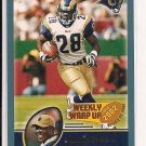 2003 TOPPS MARSHALL FAULK RAMS WEEKLY WRAP UP CARD