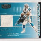 2001 PLAYOFF PREFERRED CHRIS WEINKE PANTHERS ROOKIE JERSEY CARD #'D 116/400!