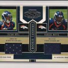 2004 PLAYOFF HONORS TATUM BELL-DARIUS WATTS BRONCOS ROOKIE TANDEMS JERSEY CARD