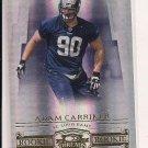 2007 DONRUSS THREADS ADAM CARRIKER RAMS ROOKIE CARD