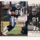 1998 UPPER DECK TIM BROWN RAIDERS SUPER POWERS CARD