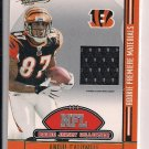 2008 PLAYOFF ABSOLUTE ANDRE CALDWELL BENGALS ROOKIE PREMIERE MATERIALS JERSEY CARD