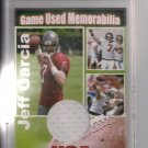 NATIONAL SPORTSCARD AUTHENTICATORS JEFF GARCIA JERSEY CARD 4 OF 7 MADE!