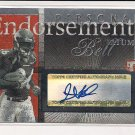 2004 TOPPS PRISTINE TATUM BELL PERSONAL ENDORSEMENTS AUTO ROOKIE CARD