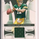 2008 LEAF ROOKIES & STARS BRIAN BROHM PACKERS DRESS FOR SUCCESS JERSEY #'D 008/250!