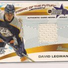 2001-02 BOWMAN YOUNG STARS DAVID LEGWAND PREDATORS RELIC JERSEY CARD