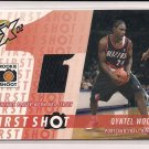 2002-03 TOPPS XPECTATIONS QYNTEL WOODS TRAIL BLAZERS FIRST SHOT JERSEY