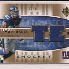 2007 ULTIMATE MATERIALS JEREMY SHOCKEY GIANTS JERSEY CARD #'D 31/99!