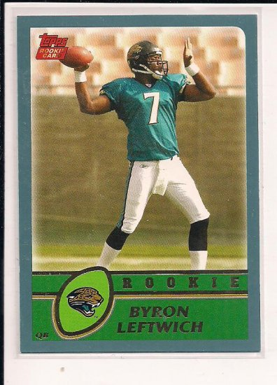 2003 TOPPS BYRON LEFTWICH JAGUARS ROOKIE CARD