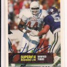 1994 SUPERIOR ROOKIE WINFRED TUBBS LONGHORNS AUTOGRAPHED CARD