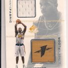 MARC JACKSON WARRIORS 2001 SP FABRIC FLOOR CARD