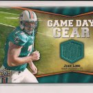 JAKE LONG DOLPHINS 2009 UPPER DECK GAME DAY GEAR JERSEY CARD