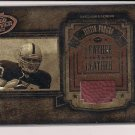JUSTIN FARGAS RAIDERS 2003 HOGG HEAVEN LEATHER IN LEATHER BALL CARD #'D 090/250!