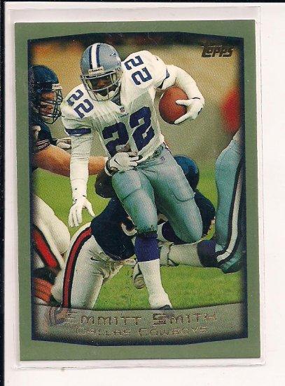 EMMITT SMITH COWBOYS 1999 TOPPS CARD