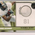 DANARIO ALEXANDER RAMS/TIGERS 2010 PRESSPASS GAME DAY GEAR ROOKIE JERSEY CARD #'D 193/199!
