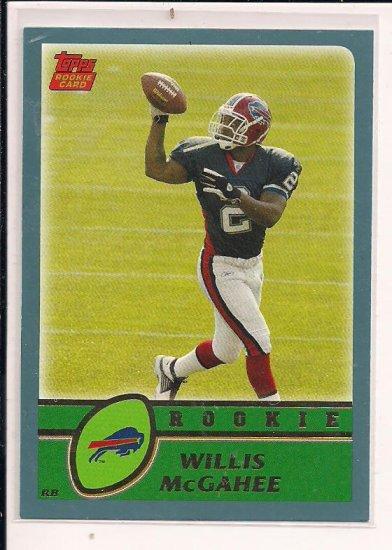 WILLIS MCGAHEE BILLS 2003 TOPPS ROOKIE CARD