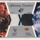 KENYON MARTIN-DIKEMBE MUTOMBO 2003-04 SPX WINNING COMBOS DUAL WARM-UPS CARD