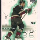 KRYS KOLANOS COYOTES 2001-02 UPPER DECK CHALLENGE FOR THE CUP ROOKIE CARD