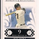 JEFF KENT GIANTS 2008 TOPPS MOMENTS & MILESTONES CARD #'D 131/150!