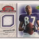 DEMETRIUS WILLIAMS RAVENS/BROWNS 2004 UPPER DECK ROOKIE DEBUT JERSEY CARD