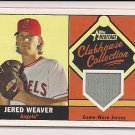 JARED WEAVER ANGELS 2010 TOPPS HERITAGE CLUBHOUSE COLLECTION JERSEY CARD