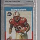 KEVAN BARLOW 49ERS 2001 UPPER DECK VINTAGE GRADED ROOKIE CARD