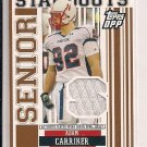 ADAM CARRIKER 2007 TOPPS DPP SENIOR BOWL JERSEY CARD
