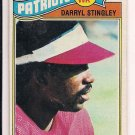 DARRYL STINGLEY PATRIOTS 1977 TOPPS CARD